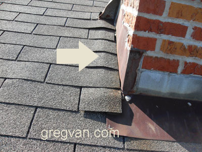 Chimney Flashing Lifting Shingle
